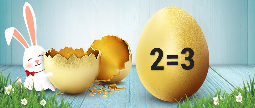 Húsvéti akció 2=3*